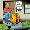 Cartoon: Religious nuts (small) by toons tagged door,knocking,mormans,peanuts,jehovahs,witness