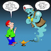 Cartoon: Rich (small) by toons tagged genie,in,bottle,wealth,three,wishes,the,lamp