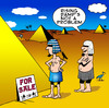 Cartoon: Rising damp (small) by toons tagged pyramids,egypt,pharohs,desert,rising,damp,cemetary,egyptians,plumbing,house,sales,building,real,estate