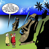 Cartoon: Rising sea levels (small) by toons tagged rising,sea,levels,easter,island,statues,goggles,snorkel