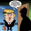 Cartoon: Scary Halloween outfit (small) by toons tagged donald,trump,halloween,us,elections,politics,monsters,trick,or,treat