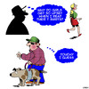 Cartoon: Seeing eye dog (small) by toons tagged blind,man,seeing,eye,dog,breasts