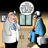 Cartoon: Should have come earlier (small) by toons tagged doctors,medical,sickness,death,hospital,skeleton