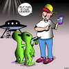 Cartoon: Take me to your leader (small) by toons tagged aliens,smart,phones,take,me,to,your,leader
