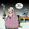 Cartoon: tech support (small) by toons tagged computers,technical,support,guns