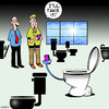 Cartoon: text friendly toilet (small) by toons tagged texting,social,media,addicted,to,text,toilets,toilet,seats