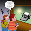 Cartoon: Texting (small) by toons tagged texting,typewriters,medieval,times,ancient,communicating