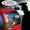 Cartoon: Texting while driving (small) by toons tagged typewriter,texting,speeding,police,dangerous,driving,misunderstanding