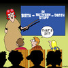 Cartoon: thats it (small) by toons tagged life,death,education,birth,children,teachers,university,learning,meaning,of,ageing
