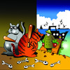 Cartoon: the ambush (small) by toons tagged fishing,cats,north,sea,animals,seafood,boats,ambush