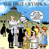 Cartoon: the first olympics (small) by toons tagged olympics,olympic,games,steroids,performance,enhancing,drugs,sport,athletics