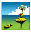 Cartoon: the hammock (small) by toons tagged desert,island,hammock,bedding,stranded,marooned,cartoon,palm,trees,abandoned