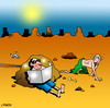 Cartoon: the sun lover (small) by toons tagged sunbaking,sun,lover,desert,island,marooned,solarium