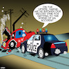 Cartoon: The upside (small) by toons tagged police,response,time,car,chase,auto,accident,law,and,order