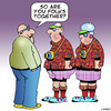 Cartoon: Togetherness (small) by toons tagged tourist,hawaiian,shirts