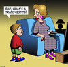 Cartoon: Transvestite (small) by toons tagged cross dresser transvestite gay homosexual fatherhood