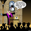 Cartoon: Tweet us thy word (small) by toons tagged tweeting social media tweets networking facebook blogging god church