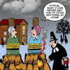 Cartoon: Typical man (small) by toons tagged witch,burning,at,the,stake,pilgrim,fathers,history,salem,supernatural,paranormal,spirits