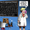 Cartoon: Understanding women (small) by toons tagged the,man,who,understood,women,professor,murder,understanding