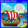 Cartoon: Vikings (small) by toons tagged vikings,darts,seminars,conferences,plunder,looting,oslo,norway,sailors