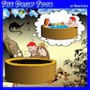 Cartoon: Wheely good idea (small) by toons tagged inventing,the,wheel,prehistoric,man,hot,tub