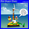 Cartoon: Wind turbine (small) by toons tagged cold,beer,desert,island,wind,farm,palm,trees,mini,bar,fridge