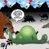 Cartoon: Winner (small) by toons tagged raffle,caveman,dinosaur,lotto,winner,food,meat,tray,prehistoric