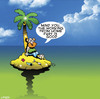 Cartoon: work from home (small) by toons tagged desert,island,work,from,home