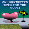 Cartoon: wurst (small) by toons tagged wurst,sausage,detour,snags,meat,roads,signs
