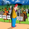 Cartoon: X marks the spot (small) by toons tagged cemetary,death,ex,husband,graveyard