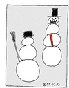 Cartoon: Schneemann (small) by Müller tagged schneemann,winter,snowman,mohrrübe,carrott