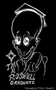 Cartoon: The Graduate (small) by Toonstalk tagged inverted,black,white,alien,grad,roswell