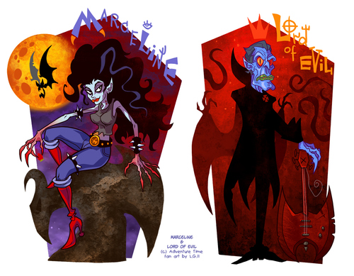 Cartoon: Small evil family (medium) by Garvals tagged marceline,vampire,demon,monster,adventure,time