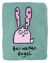 Cartoon: Hasi 7 (small) by schwoe tagged hase,hagel,wetter,schaden,beule,löcher