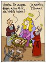 Cartoon: Vorbild (small) by schwoe tagged madonna,maria,weihnachten,vorbild,bethlehem