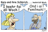 Cartoon: Karo  - keehrd äll Woch (small) by TOSKIO-SCHWAEBISCH tagged toskio vtms cartoon tex pander karo sprüche schwäbisches schwääbisches schwaebisches schwäbische kehrwoche einkehr hebbe