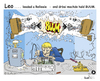 Cartoon: Leo . . . . BUUM (small) by TOSKIO-SCHWAEBISCH tagged toskio vtms cartoon tex pander leo buum löten schwäbisches schwaebisches schwääbischs relleele leeda elektronikreparatur hifi reparatur lötkolben soundexplosion boxen explodieren
