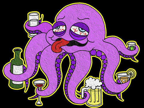 Cartoon: Octupus (medium) by majezik tagged ahtapot,octupus,drink
