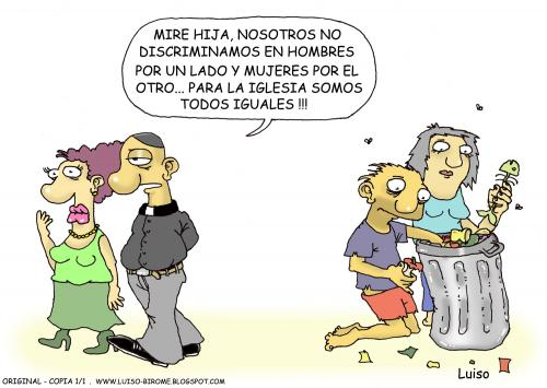 Cartoon: Igualdad (medium) by Luiso tagged igualdad