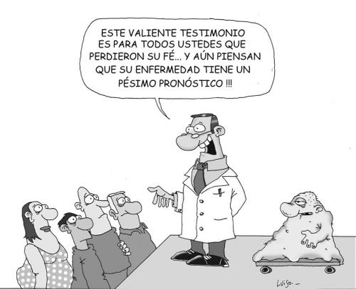 Cartoon: Pronostico (medium) by Luiso tagged medicine