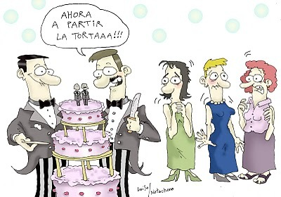Cartoon: Torta (medium) by Luiso tagged lesbian