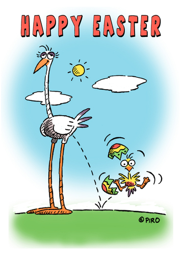 Cartoon: HAPPY EASTER 2012 (medium) by piro tagged easter,holiday,birds,eggs