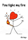 Cartoon: 100 Ways To Say - I Love You (small) by piro tagged love fire lovedevil