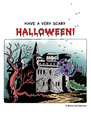 Cartoon: Halloween 2011 (small) by piro tagged halloween,bats,spooky,scary,holiday,castle,haunted,house
