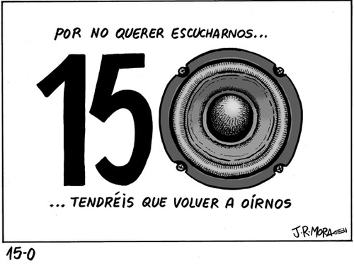 Cartoon: 15O (medium) by jrmora tagged democracia,crisis,manifestaciones,movimiento,social
