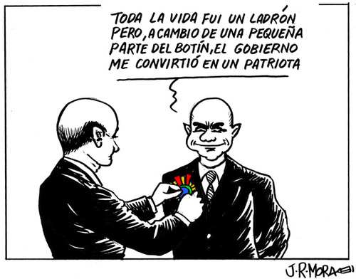 Cartoon: Amnistia fiscal Spain (medium) by jrmora tagged amnistia,fiscal,spain