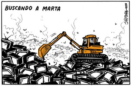 Cartoon: Buscando a Marta (medium) by jrmora tagged tv,sucesos