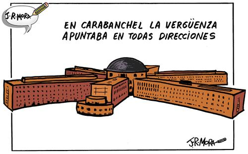 Cartoon: carcel de Carabanchel (medium) by jrmora tagged carcel,carabanchel,prision,madrid