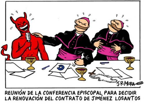 Cartoon: Conferencia episcopal (medium) by jrmora tagged obispos,losantos,conferencia,episcopal