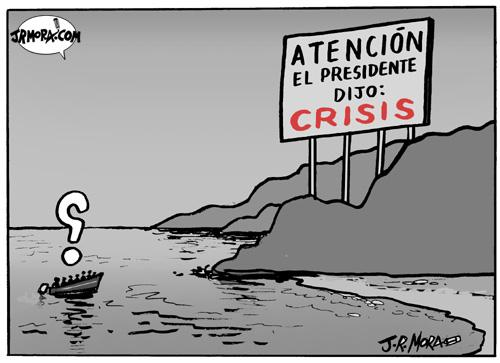 Cartoon: Crisis (medium) by jrmora tagged crisis,economia,desaceleracion,recesion